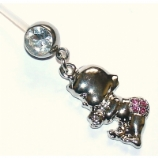 Crystal Baby Dangle Pregnancy Belly Bar