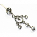 Crystal Chandelier Dangle Pregnancy Belly Bar