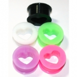 Heart Cut-Out Silicone Flexi Solid Plug