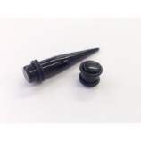 Neon Black Taper and Plug Set