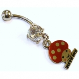 Bite Me Mushroom Dangle Belly Bar