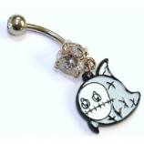 Voodoo Ghostie Dangle Belly Bar