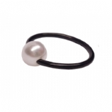 Pearl Ball Black PVD Titanium Ball Closure Ring