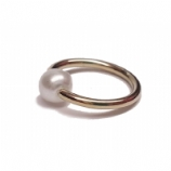 Pearl Ball Gold PVD Titanium Ball Closure Ring