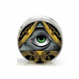 All Seeing Eye Surgical Steel Plug 6mm - 25mm