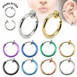 Fake Clip On Piercing Ring - Spring Loaded