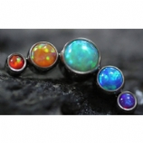 Anatometal 5 Arc Cluster Attachment - Rainbow Opal