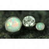 Anatometal 3 Arc Cluster Attachment - Clear Crystal and Opal