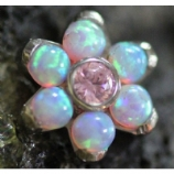 Anatometal Flower Attachment - Light Pink Opal