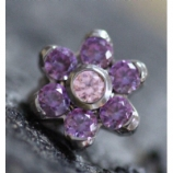 Anatometal Flower Attachment - Lilac Blue Crystal