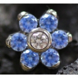 Anatometal Flower Attachment - Artic Blue Crystal