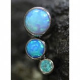 Anatometal 3 Arc Cluster Attachment - Blue Opal and Crystal