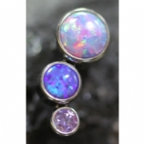 Anatometal 3 Arc Cluster Attachment - Purple Opal and Crystal