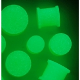Glow In The Dark Silicone Flexi Solid Plug 3mm - 25mm