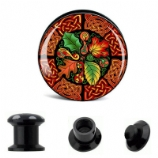Autumn Leaves Celtic Knot Plug 6mm - 30mm
