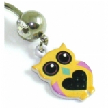 Yellow Owl Dangle Belly Bar