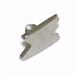 Lightning Strike Shaped Screw On Attachment For 1.6mm Dermal Anchor