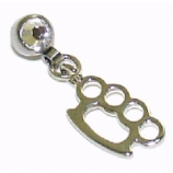 Knuckleduster Dangle Attachment For 1.6mm Dermal Anchor