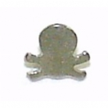 Skull & Bones Shaped Screw On Attachment For 1.6mm Dermal Anchor