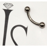 IN STOCK - Industrial Strength Titanium Curved Barbell 1.2mm
