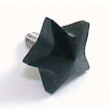 Black Star Shaped Crystal Screw On Attachment For 1.6mm Dermal Anchor