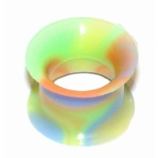 Rainbow Silicone Flexible Flesh Tunnel