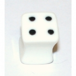 White Dice Square Plug