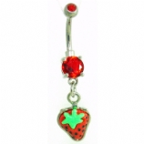 Strawberry Small Dangle Belly Bar
