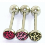 New Style Leopard Print Picture Logo Tongue Bar