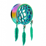 Dreamcatcher Dangle Style Plug 8mm - 25mm