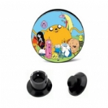 Adventure Time Full Cast Black Plug 6mm - 25mm