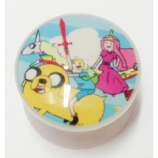 Adventure Time White Plug 6mm - 25mm