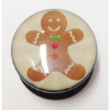 Gingerbread Man Plug 6mm - 25mm