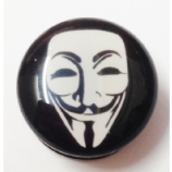 V For Vendetta Mask Plug 6mm - 25mm