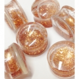Copper Glitterglobe Glitter Liquid Plug 8mm - 25mm