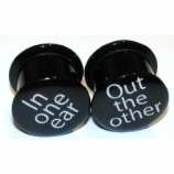 In One Ear Out The Other Screw-Fit  Plugs 6mm - 25mm (Pair)