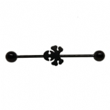 Black Skull Scaffold Barbell