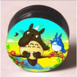 Colourful Totoro Plug 6mm - 25mm