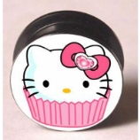 Hello Kitty Cupcake Plug 6mm - 25mm