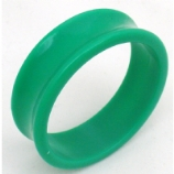 Giant Gauge Green Flared Acrylic Flesh Tunnel 26mm - 50mm - Extra Wide