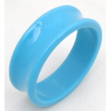 Giant Gauge Blue Flared Acrylic Flesh Tunnel 26mm - 50mm - Extra Wide