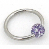 Super Glitter Ball Closure Ring - 1.2mm