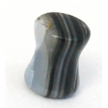 Grey Malachite Stone Saddle Flesh Plug