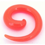 Orange Neon Acrylic Ear Hook Spiral 2mm - 8mm
