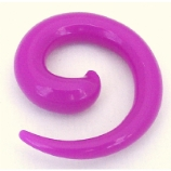 Purple Neon Acrylic Ear Hook Spiral 2mm - 8mm