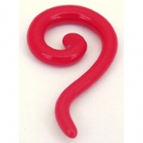 Red Neon Acrylic Serpentine Ear Spiral 2mm - 8mm