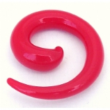 Red Neon Acrylic Ear Hook Spiral 2mm - 8mm