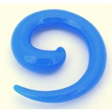 Blue Neon Acrylic Ear Hook Spiral 2mm - 8mm