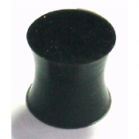 Black Silicone Flexi Solid Plug