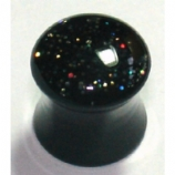 Black Hologram Glitter Acrylic Saddle Plug